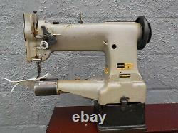 Industrial Sewing Machine Model Consew 227, walking foot, cylinder, Leather