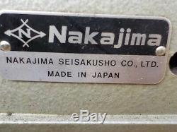 Industrial Sewing Machine Model Nakajima 321L, cylinder, Leather