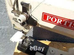 Industrial Sewing Machine Model Portis KM-390-BL walking foot, cylinder, Leather