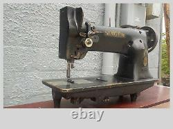Industrial Sewing Machine Singer 111w151, one needle, needle feed -Leather