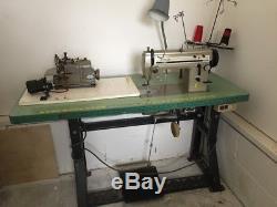 Industrial Singer 20U33 And Merrow Machine Style M-3DW sewing machine