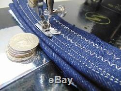 Industrial Strength HEAVY DUTY NECCHI SEWING MACHINE THICK JEANS WITH ZIGZAG WOW