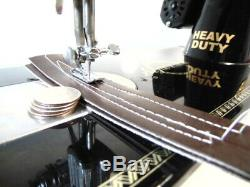 Industrial Strength HEAVY DUTY SEWING MACHINE 16 OZ LEATHER, BELTING ++ WOW