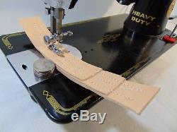 Industrial Strength HEAVY DUTY SINGER 201K SEWING MACHINE 18 OZ LEATHER WOW WOW