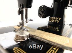 Industrial Strength HEAVY DUTY SINGER 99 SEWING MACHINE DOUBLE BELTING WOW WOW