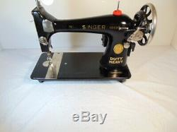 Industrial Strength HEAVY DUTY SINGER SEWING MACHINE 16 OZ LEATHER WOW WOW