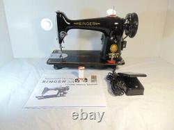 Industrial Strength Heavy Duty Singer 201k Sewing Machine, Double Belting Wow
