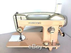 Industrial Strength Heavy Duty Vintage White 664 Sewing Machine -sew Leather+
