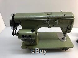 Industrial Strength Heavy Duty Vintage White Sewing Machine With Many Extras