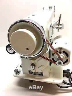 Industrial Strength Heavy Duty Vintage White Sewing Machine -sew Leather & More