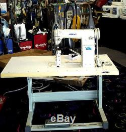 JOCKY 810 Post Bed METAL COMMERCIAL Industrial Sewing Machine WITH TABLE SERVO