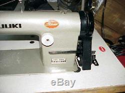 JUKI 555 INDUSTRIAL SEWING MACHINE with Adjustable Speed Servo Motor LED NeedleL