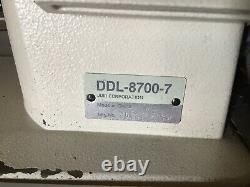 JUKI DDL-8700-7 INDUSTRIAL Single Needle automatic sewing machine. Complete