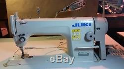 JUKI DDL-8700 SINGLE NEEDLE INDUSTRIAL SEWING MACHINE With STAND, SERVO MOTOR