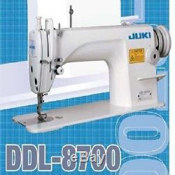 JUKI DDL-8700 Sewing Machine Complete Set With Stand, Motor & Lamp TESTED