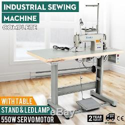 JUKI DDL-8700 Sewing Machine with Servo Motor, Stand & LED LAMP FREE SHIPPING