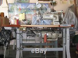 JUKI LH-527 Industrial Double needle Walking Foot Sewing Machine