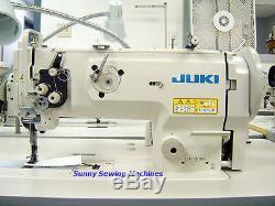 JUKI LU-1508N Leather Walking Foot Sewing Machine Assembled with Servo Motor