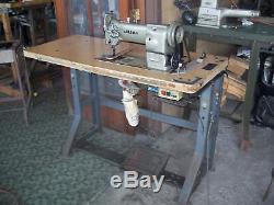 JUKI LU 563 big bobbin reverse walking foot industrial sewing machine Japan used