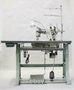 JUKI MF-7523 3 Needle Coverstitch Industrial Sewing Machine With Table and Servo