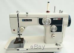 Janome New Home Auto Semi Industrial Sewing Machine for Heavy Duty Work + Extras
