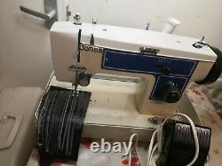 Jones Leather And Fabric Semi Industrial Heavy Duty ZigZag Sewing Machine