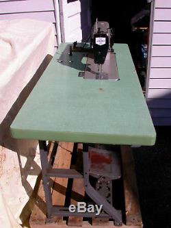 Juki DDL-5550 Industrial Sewing Machine with Table and Motor Upholstery Canvas