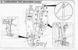 Juki DDL-8700 Lockstitch Sewing Machine with Servo Motor, Stand, Lamp, Free Chair. DIY
