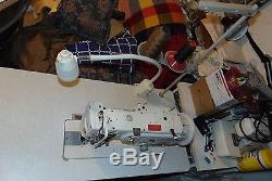 Juki DNU-1541 Industrial Walking Foot Sewing Machine with table & motor Used