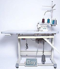 Juki Industrial 4-Thread Overlock Sewing Machine, K. D table & Servo Motor with