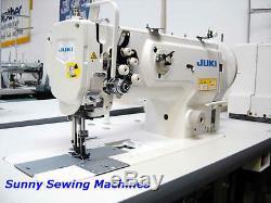 Juki LU-1560N Double Needle Walking Foot Industrial Sewing Machine with Servo