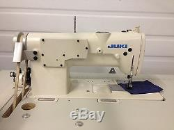 Juki Lh-515 Two Needle Feed 3/16 New Table &110v Motor Industrial Sewing Machine