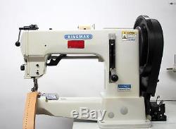 KINGMAX GA205-370 Walking Foot Heavy Duty Leather Industrial Sewing Machine 110V