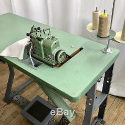 MERROW MG-3DW-2 Industrial Overlocking SEWING MACHINE w Motor & Table Ex Cond