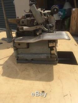 MERROW M 4D 45 INDUSTRIAL SEWING MACHINE Overlock With MOTOR & TABLE