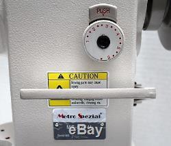 METRO MS-8244L Walking Foot 2-Needle Cylinder Bed Industrial Sewing Machine Head