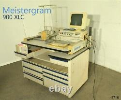 Meistergram 900XLC Embroidery machine w tool chest of drawers sewing pattern