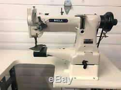 Mela Mitsubishi Cylinder Bed Walking Foot Reverse 110v Industrial Sewing Machine