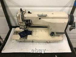 Mitsubishi Lt2-2230 2 Needle Feed 1/4 Spacing Reverse Industrial Sewing Machine