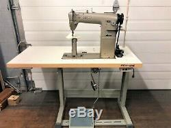 Mitsubishi Pb-810 Post Bed New Table & 110 Volt Servo Industrial Sewing Machine