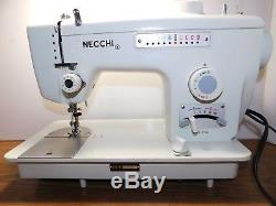 NECCHI 539 Industrial Strength HEAVY DUTY Sewing Machine LEATHER Zigzag Stretch