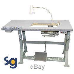 NEW Singer 20U-109 Industrial Zig Zag Sewing Machine with Stand and Clutch Motor