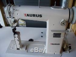 Narrow post bed Taurus 810, roller feet industrial sewing machine, servo