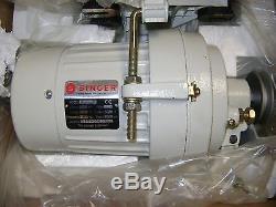 New Singer 1/2 HP 110 Volt 3450 RPM Industrial Sewing Machine Clutch Motor