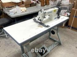 New-Tech GC-0303 Walking Foot Industrial Sewing Machine withTable and Servo Motor