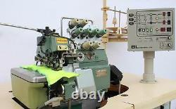 PEGASUS ETS-52 Serger 2-Needle 4-Thread Automatic Industrial Sewing Machine 220V