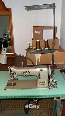 PFAFF 138 Industrial ZIG ZAG Sewing Machine in Table with Manual Accessories