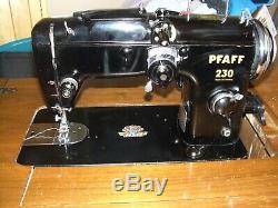 PFAFF 230 Vintage Sewing Machine Portable Heavy Duty Leather Industrial Black