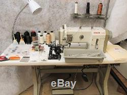 Pfaff 1245 Walking Foot Industrial Sewing Machine withServo motor, table & extra's