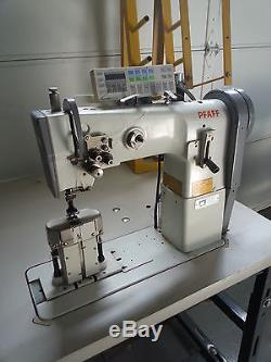 Pfaff Double Needle digital Post Bed Walking Foot Industrial Sewing Machine 1296